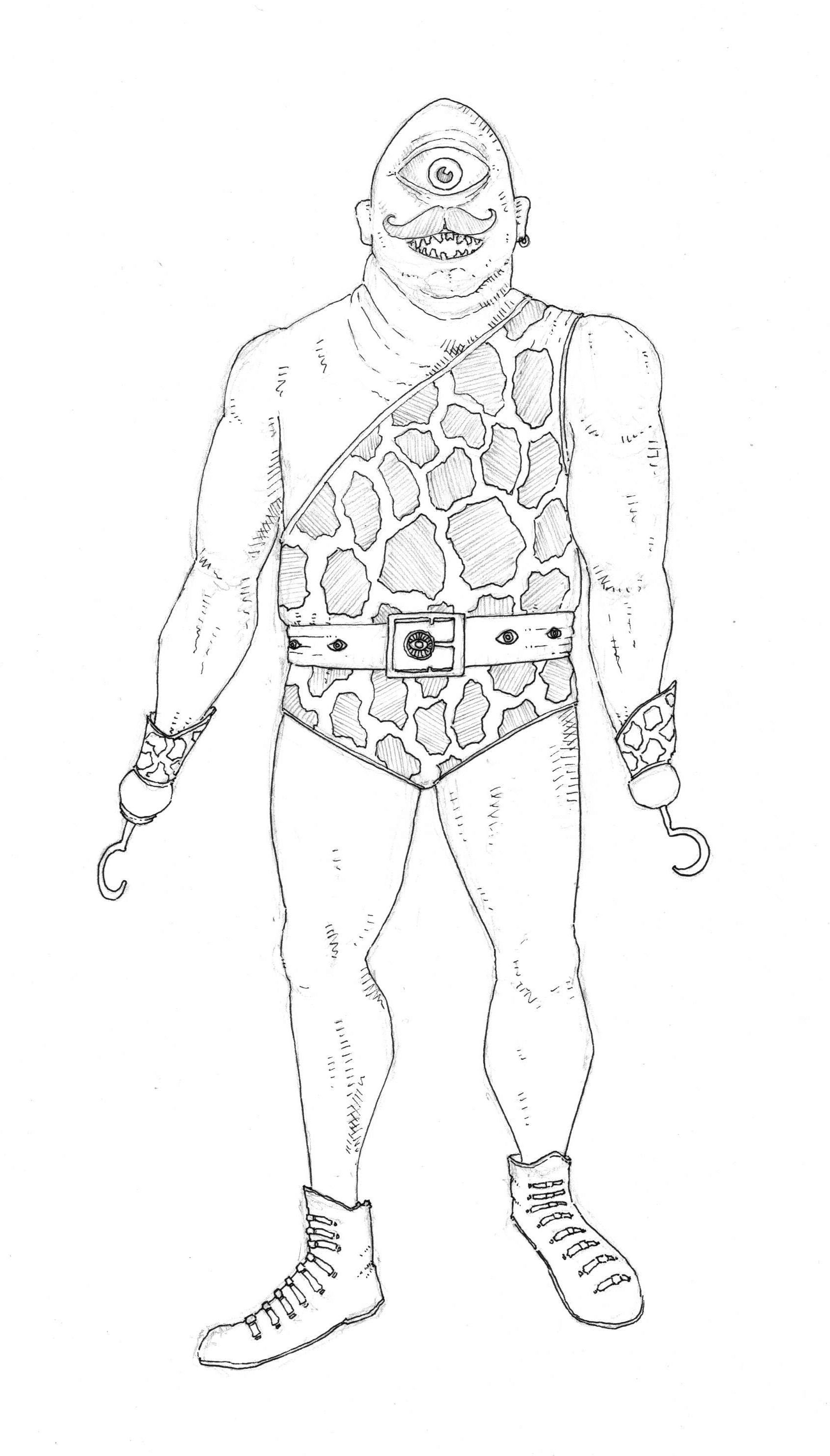 Yuck Character Design : Character design cyclops man welcome to spookville
